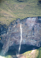 The 600m un-named waterfall down Amuri tepui. Photo: John Arran